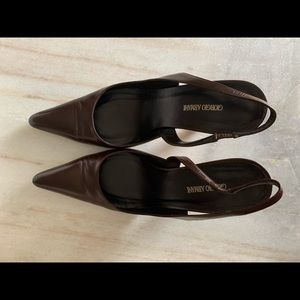 Giorgio Armani Chocolate Brown Leather Heels